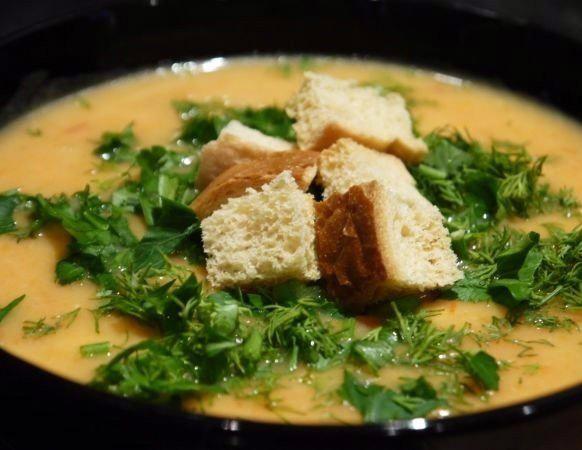 Овощной суп-пюре с сыром