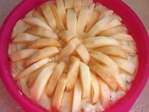 творожно - яблочный пирог