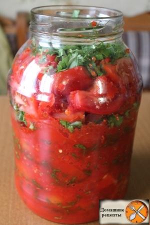 Быстрые помидоры по-корейски