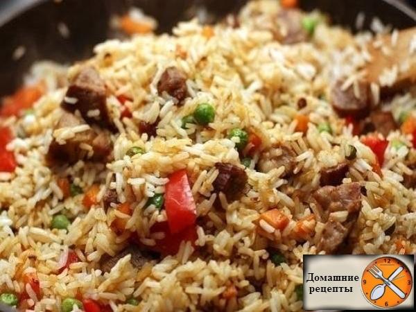 Рис со свининой и овощами