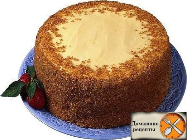 """Быстрый шоколадный торт на кефире """"Ням-ням"""""""