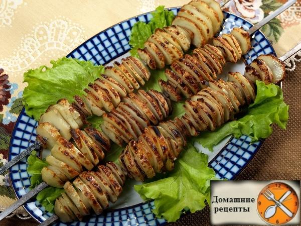 Картошка с салом на мангале от Сталика Ханкишиева