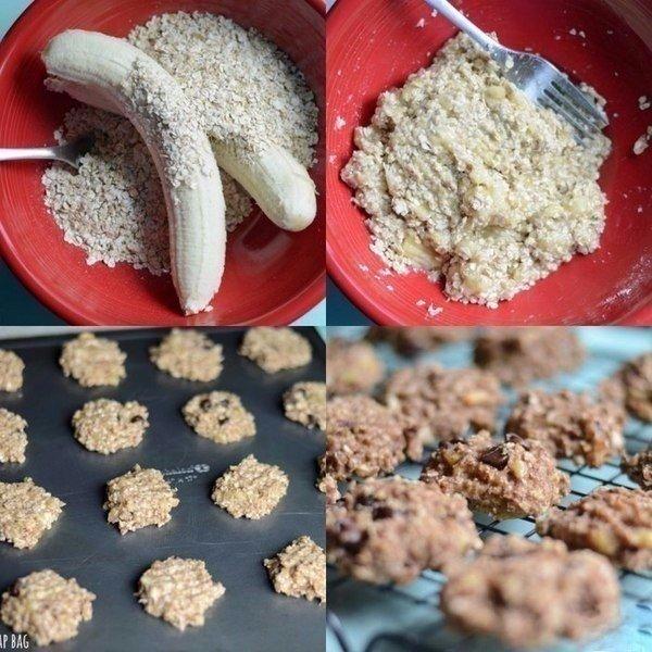 Овсяное фитнес печенье с бананом