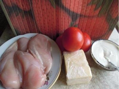 "Диетическое ""Мясо по-французски"" из куриного филе"