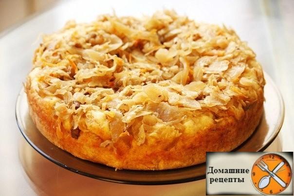 Быстрый пирог с капустой. Дом рецепты