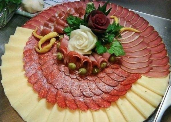 Идеи красивой мясной нарезки12