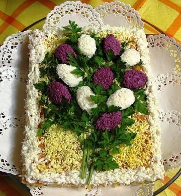 Салат «Сирень»