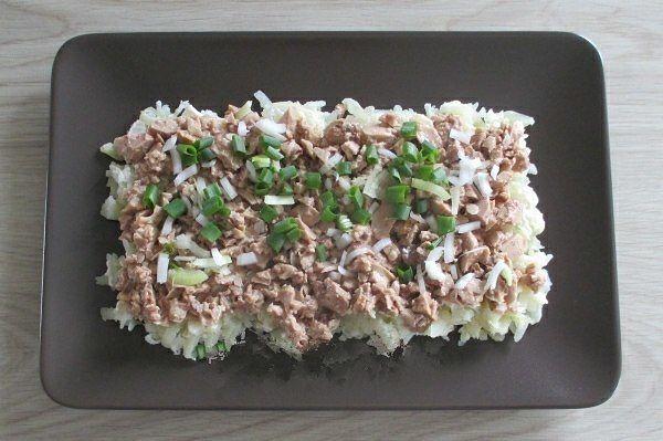 Салат с печенью трески 2