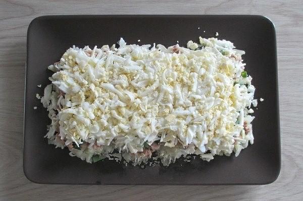 Салат с печенью трески 4