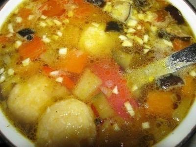 Сырные шарики. Быстрый болгарский суп. 8