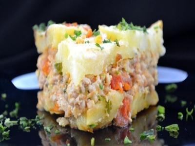 Запеканка с картофелем и фаршем 8