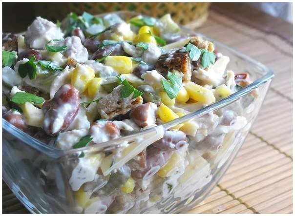 ТОП-6 салатов с куриным филе: просто и очень вкусно!