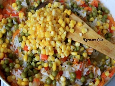 Курица с рисом и овощами по-каталонски 4