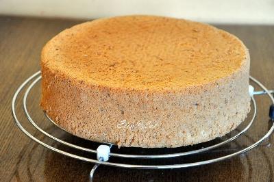 Шоколадно-цитрусовый торт с клубничным муссом 4