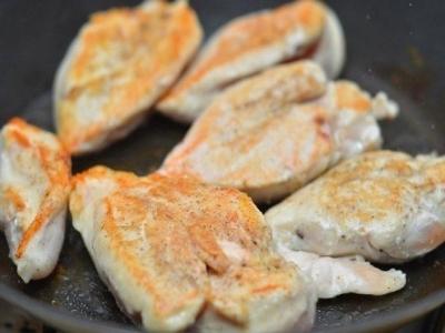 Куриное филе в сливочном соусе 2