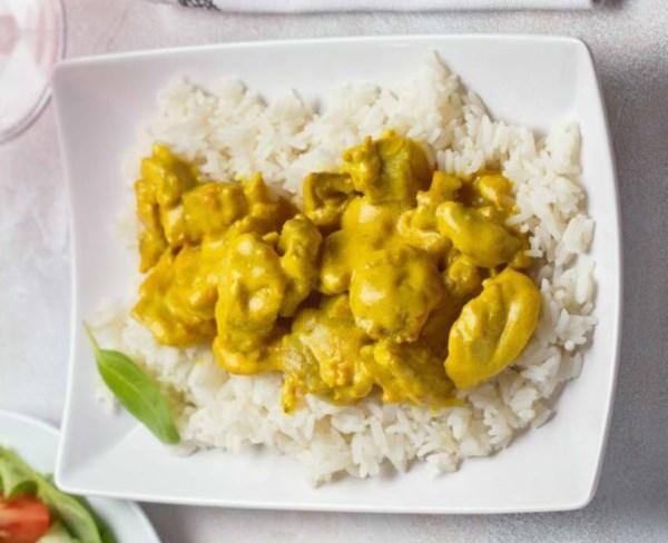 Курица с карри и рисом 10