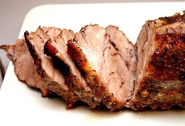 Запеченная в горчице свинина 1
