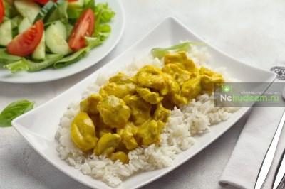 Курица с карри и рисом 9