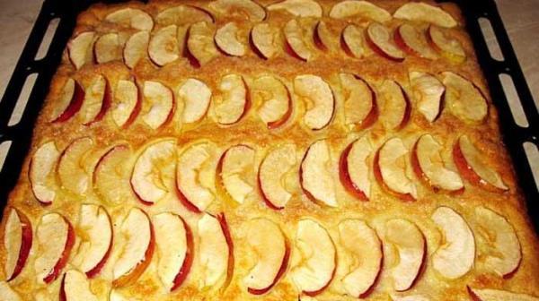 Песочный пирог с яблоками за 15 минут